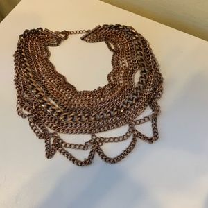 Jewelry - Brass/Copper colored  Multi layered necklace